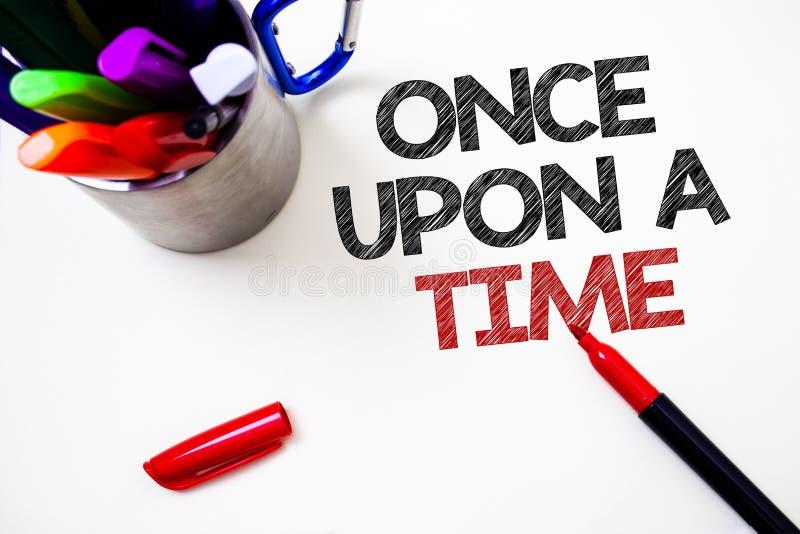 Показ знака текста раз раскрывает время Схематическое фото говоря историческому событию рассказа сказки рассказа романную ручку б иллюстрация вектора