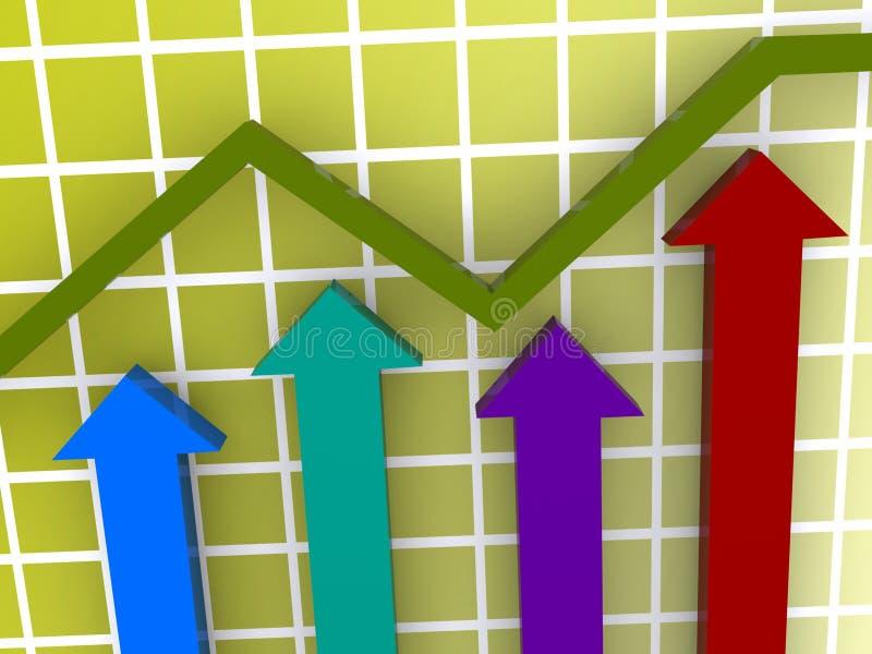 показ увеличения диаграммы иллюстрация вектора