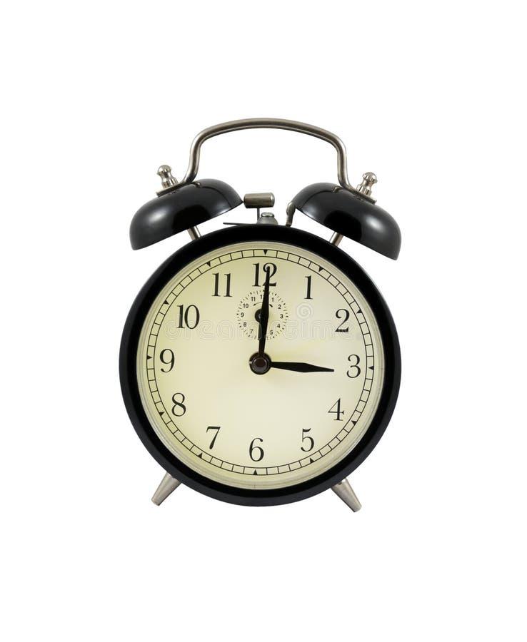 показ 3 часов будильника ретро стоковые изображения rf