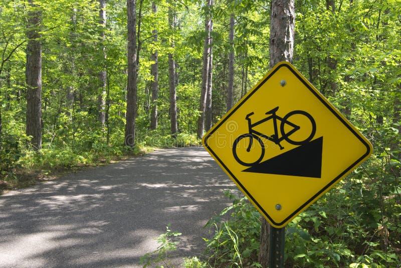 Download Покатый велосипед подписывает внутри парк штата Itasca, северную Минесоту, США Стоковое Фото - изображение насчитывающей перемещение, сосенка: 33731378