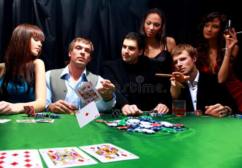 покер группы зловещий стоковая фотография rf