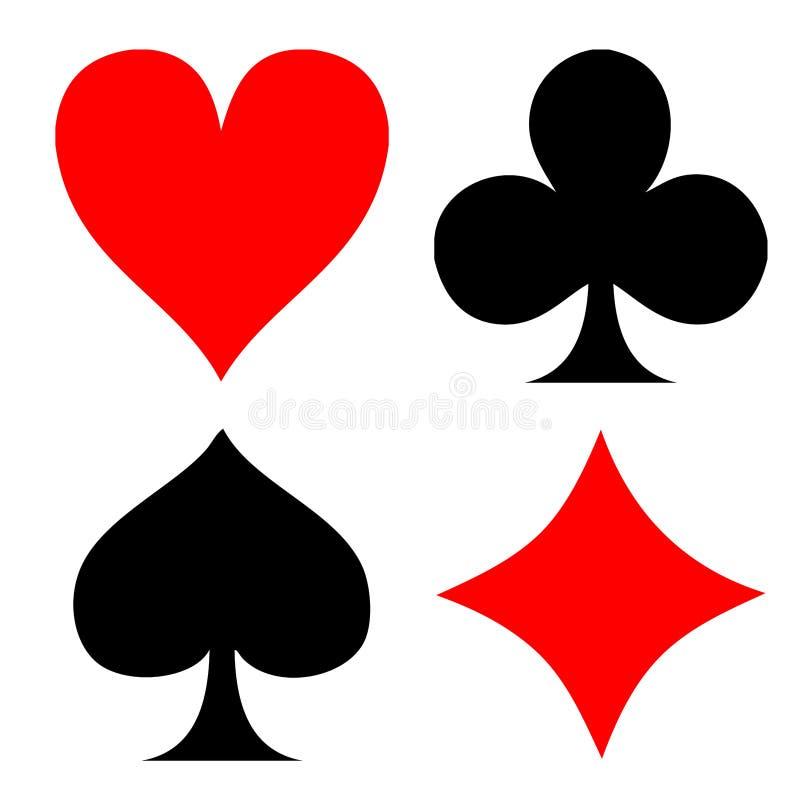 покер играть карточки иллюстрация вектора