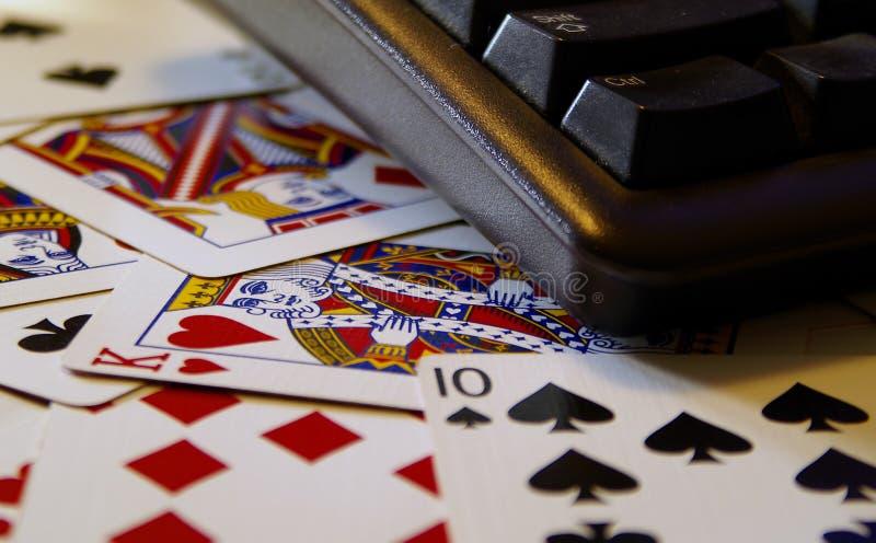 покер интернета стоковое изображение rf