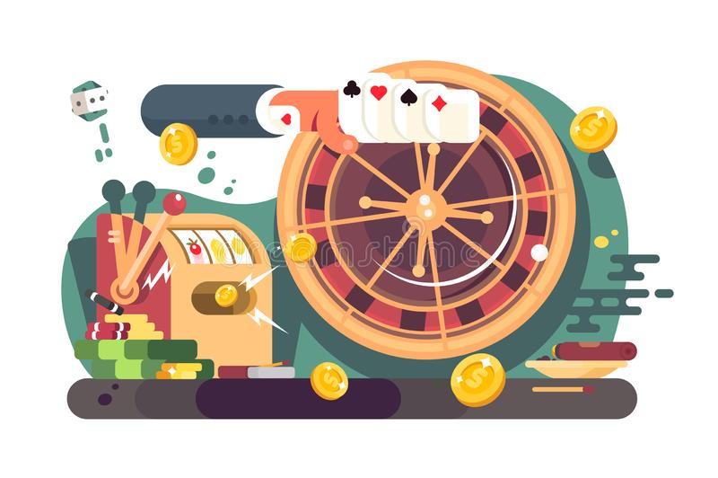 Покер казино иллюстрация вектора