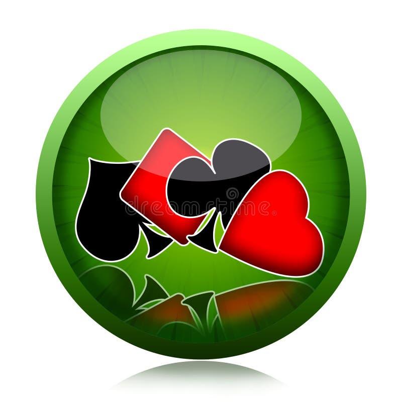покер кнопки иллюстрация штока