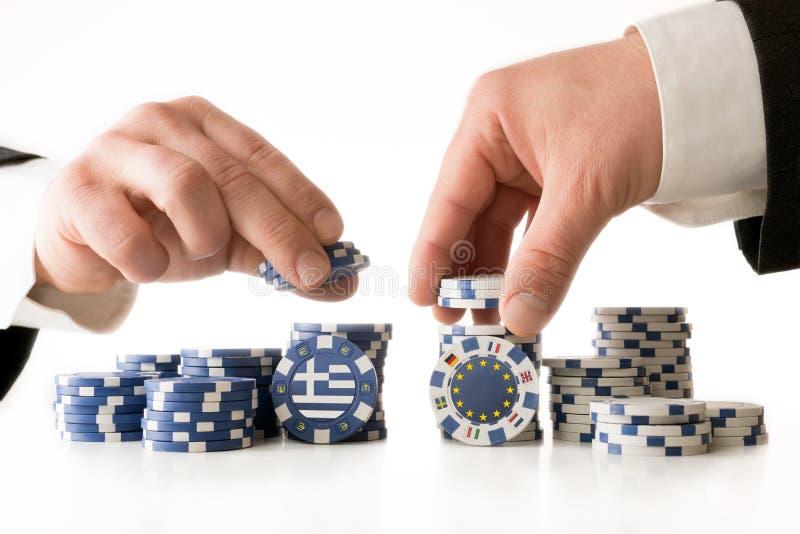 Покер к будущему Греции стоковое фото rf