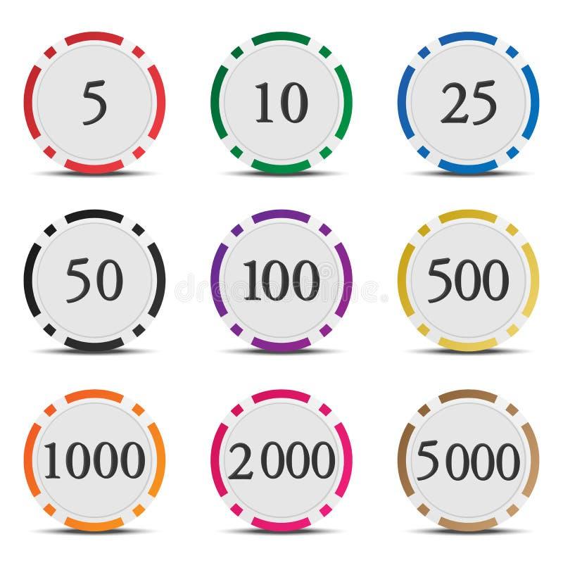 покер 01 обломока иллюстрация вектора