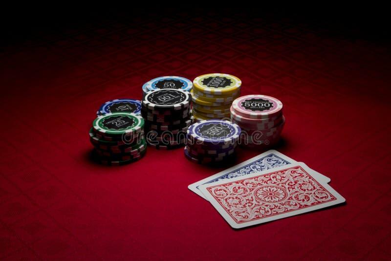 покер 2 обломоков карточек стоковые изображения rf