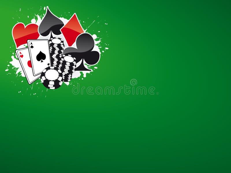 покер 5 bg иллюстрация вектора