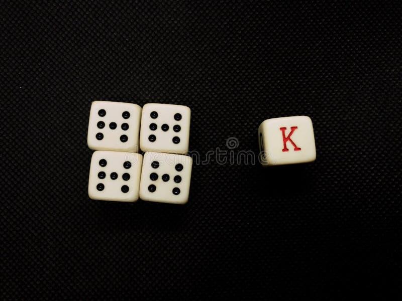 Покер dices стоковое изображение rf
