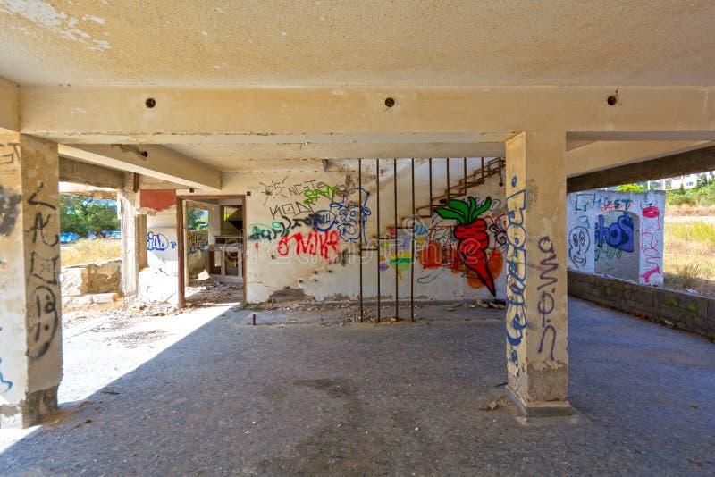 Покинутая гостиница стоковые изображения rf