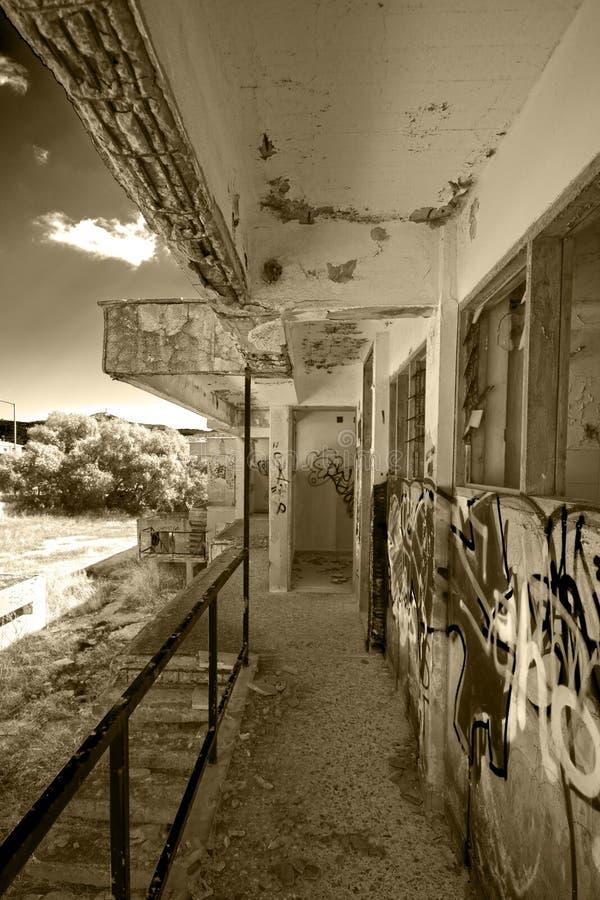 Покинутая гостиница стоковое изображение rf
