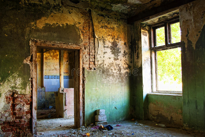 Покинутая деталь дома стоковое изображение