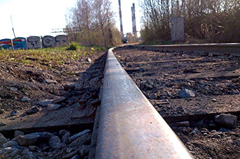 покинутая железная дорога стоковое изображение rf