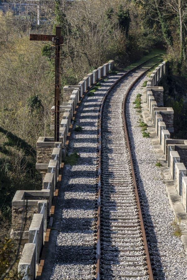 Покинутая железная дорога стоковые изображения rf