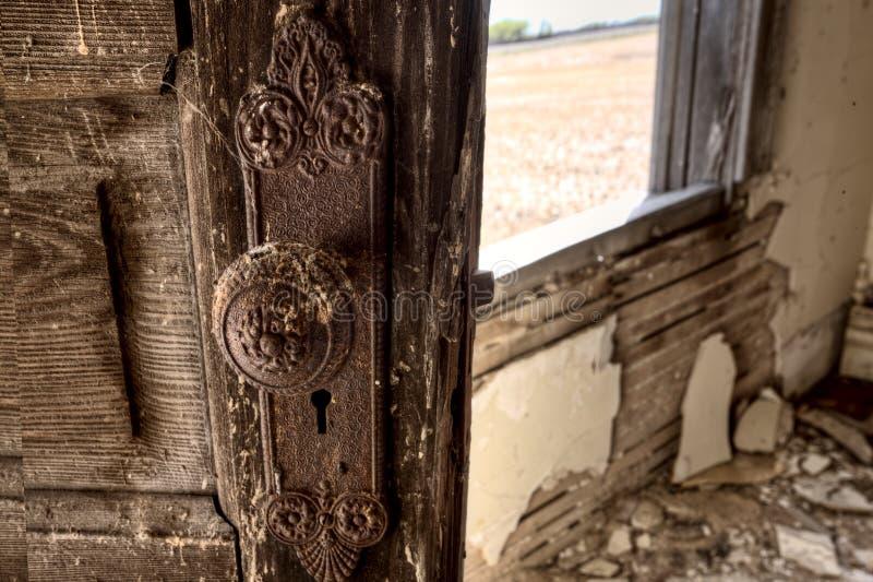 Покинутая интерьером прерия дома стоковое фото
