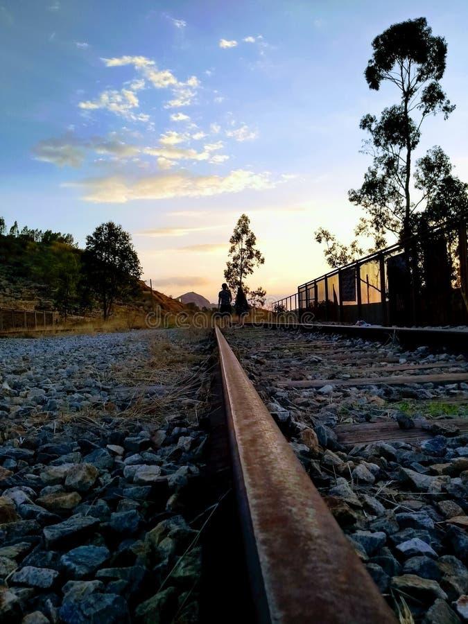 Покинутая линия поезда стоковое изображение rf