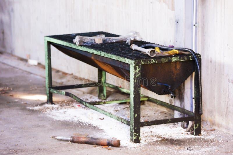 Покинутая очищая станция стоковая фотография rf