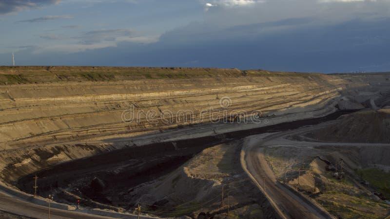 Покинутая поверхностная шахта стоковые изображения