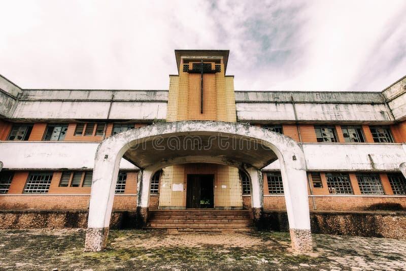Покинутая психиатрическая больница в Бразилии стоковая фотография rf