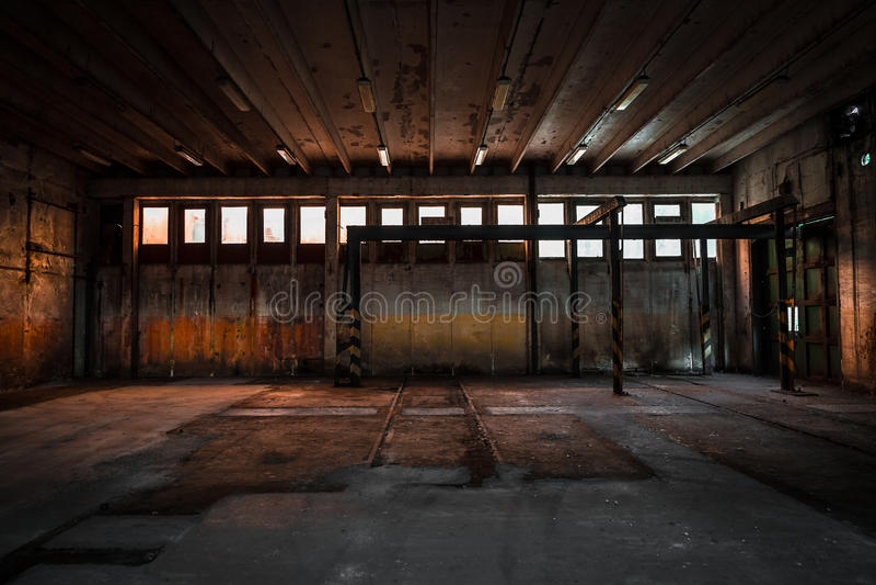 Покинутая станция ремонта корабля стоковые фото