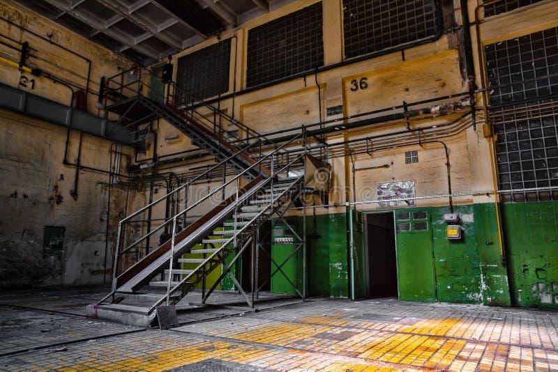 Покинутая станция ремонта корабля стоковое фото rf