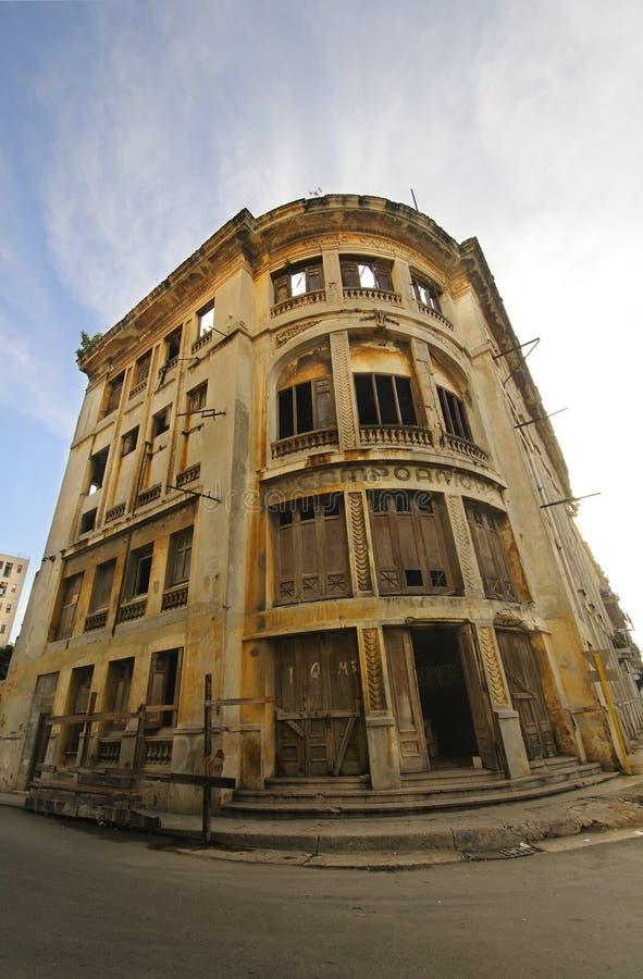 покинутая строя Куба havana старый стоковая фотография rf