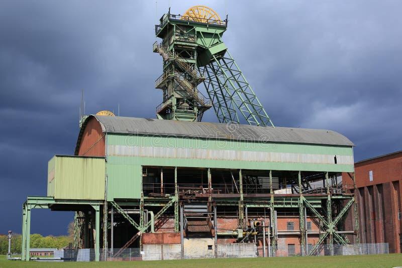 Покинутая угольная шахта в Ahlen, Германии стоковые изображения