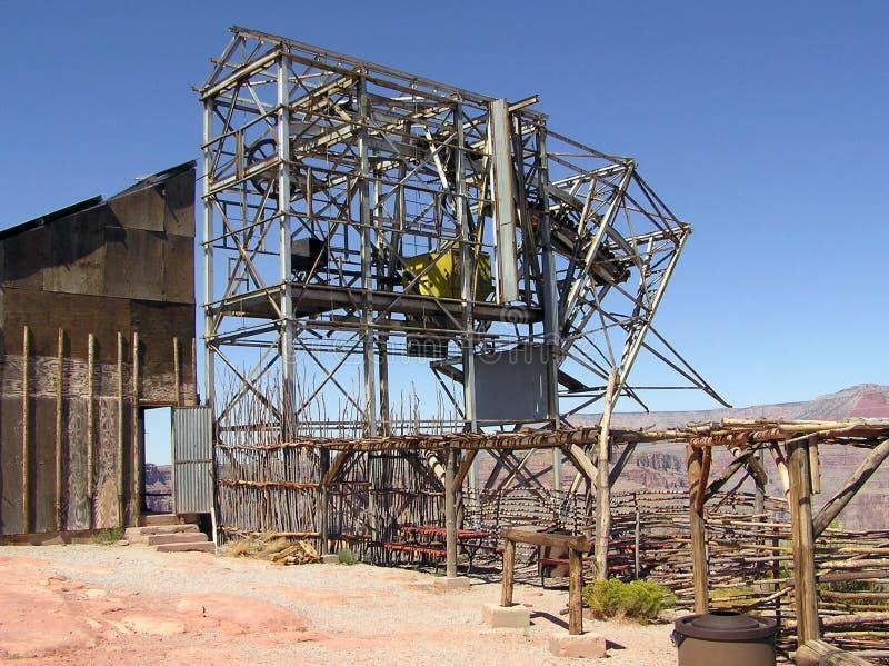 Покинутая шахта гуана, западная оправа гранд-каньона NP, Аризоны стоковые фотографии rf