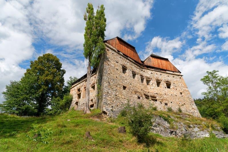 Покинутое кирпичное здание, Штирия, Австрия стоковая фотография
