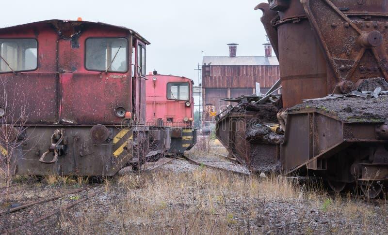 Покинутое промышленное транспортное оборудование стоковое изображение rf