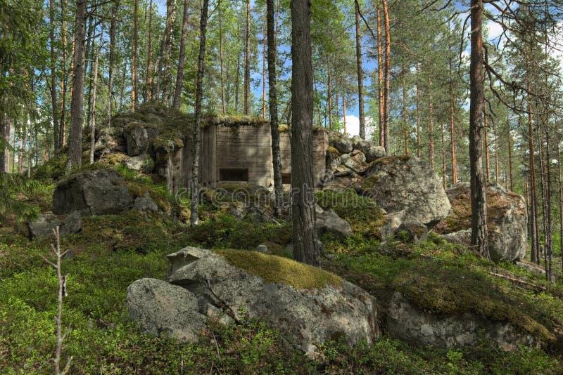 Покинутый бункер Второй Мировой Войны в Vaermland, Швеции Оно вызвано Skans 176 Dypen стоковые изображения rf