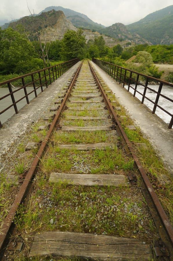 Покинутый железнодорожный след стоковое изображение