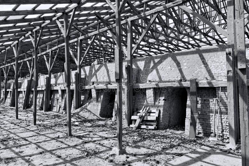 Покинутый кирпичный завод стоковые фото
