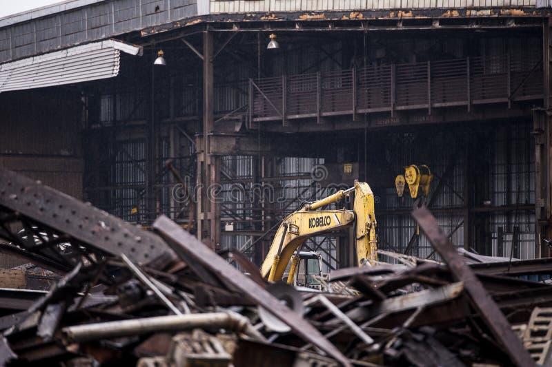 Покинутый отучайте объединенную фабрику - Youngstown, Огайо стоковые изображения