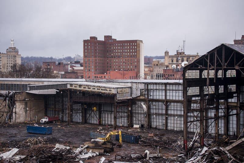 Покинутый отучайте объединенную фабрику - Youngstown, Огайо стоковая фотография rf