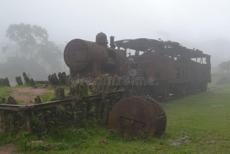 Покинутый поезд стоковые изображения rf