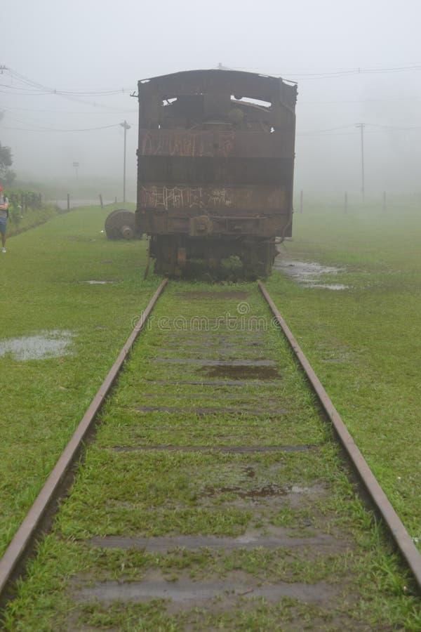 Покинутый поезд стоковое изображение