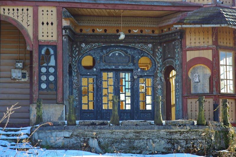 Покинутый старый курорт виллы стоковая фотография