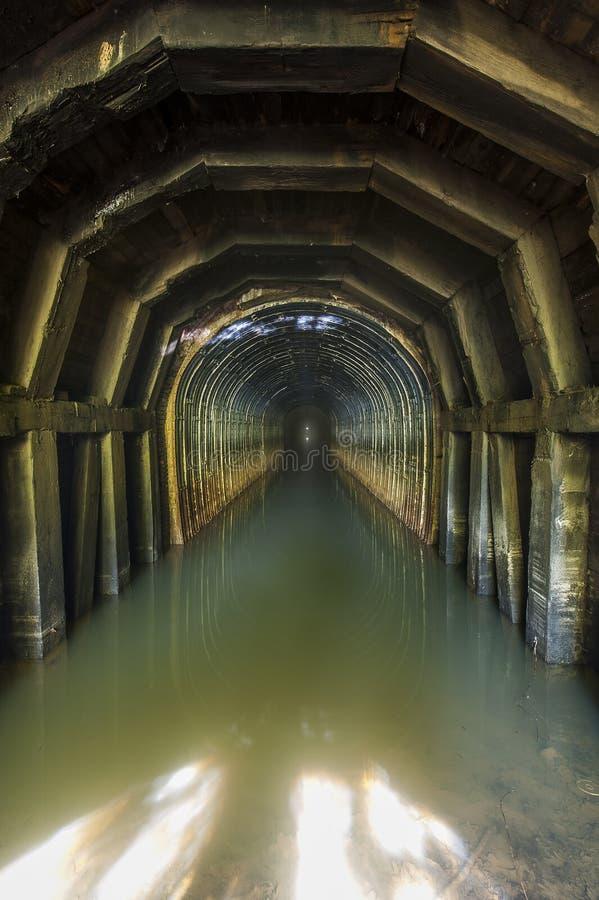 Покинутый тоннель середин - Чесапик & железная дорога Огайо - восточный Кентукки стоковые изображения rf