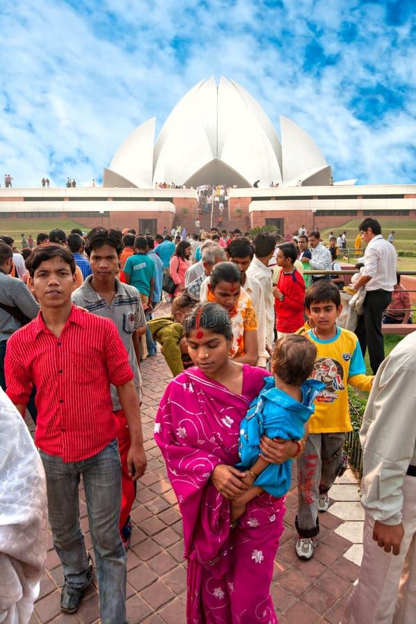поклонение дома i Индия delhi baha новое стоковая фотография