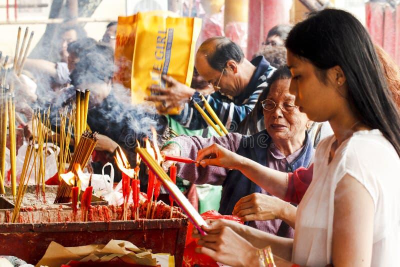 поклонение китайца стоковое изображение