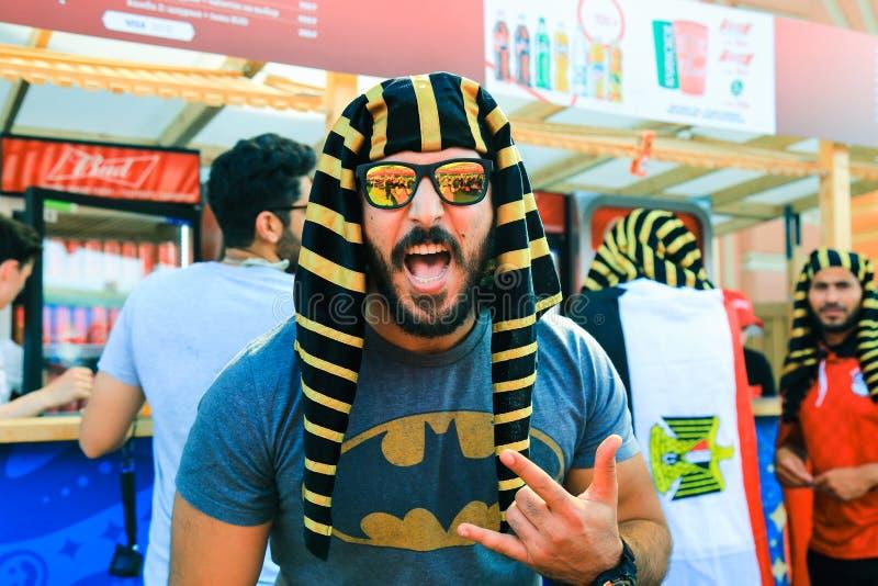 Поклонник футбола футбольной команды соотечественника Египта стоковое изображение rf