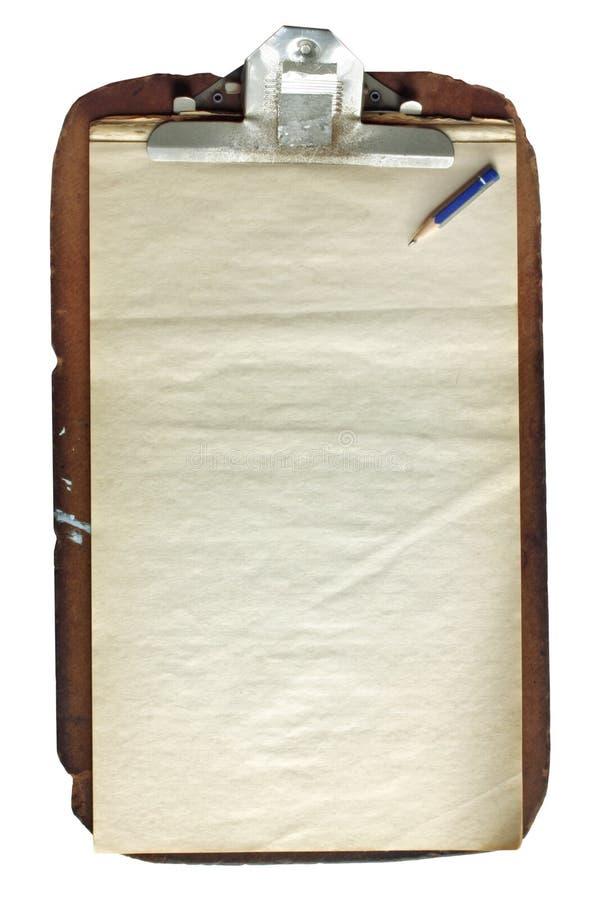 поколоченный clipboard стоковое изображение rf