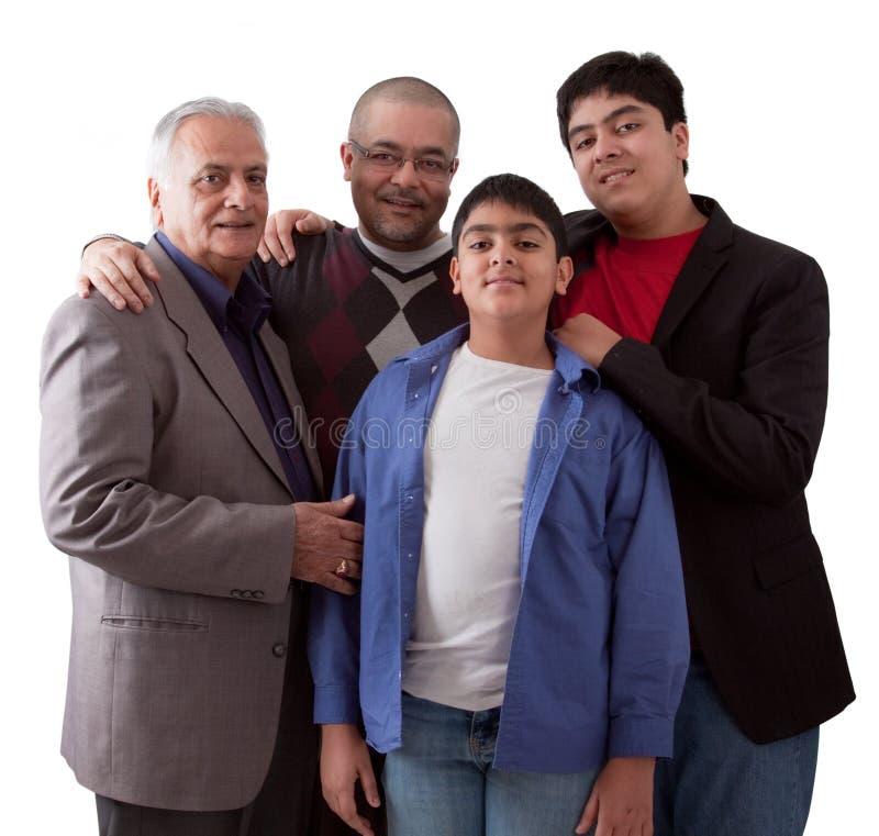 3 поколения индийской семьи стоковое изображение rf