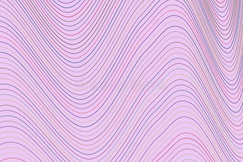 Покрасьте абстрактную линию, изогните & развевайте предпосылку искусства геометрической картины генеративную Холст, обои, цифрово иллюстрация вектора