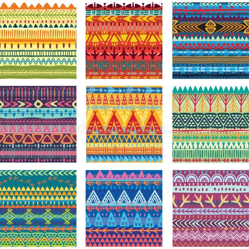Покрасьте безшовную племенную текстуру бесплатная иллюстрация