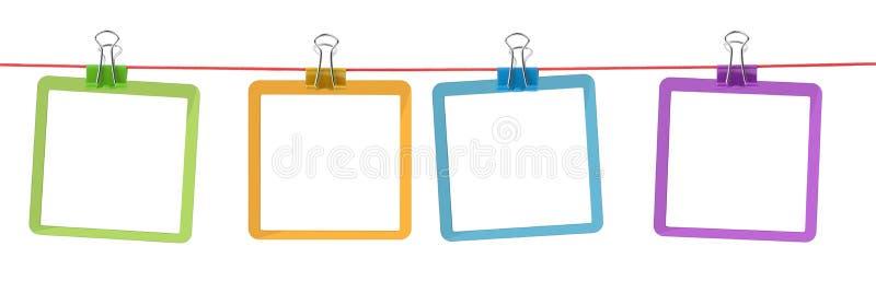 покрасьте веревочку рамок стоковое фото