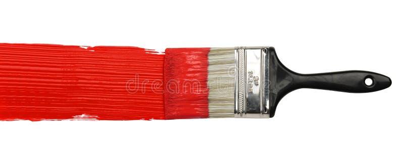 покрасьте желтый цвет paintbrush стоковое изображение rf