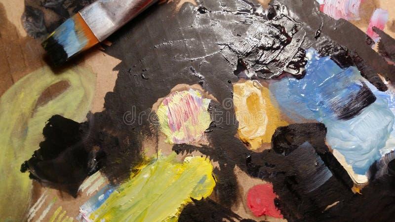 Покрасьте искусство brusher Справочная информация стоковое изображение